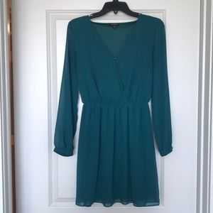 Express green wrap dress